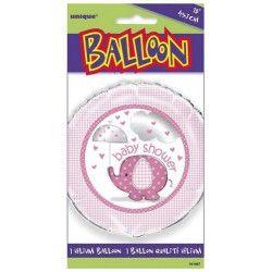 Ballon hélium bébé éléphant rose 45 cm Déco festive U41667
