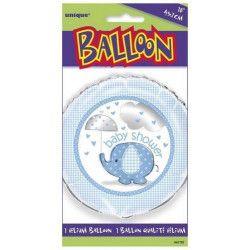 Déco festive, Ballon hélium bébé éléphant bleu 45 cm, U41707, 2,40€