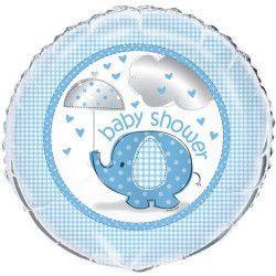 Ballon hélium bébé éléphant bleu 45 cm Déco festive U41707