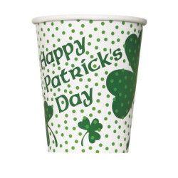 Gobelets trèfles Saint Patrick x 8 Déco festive U43536