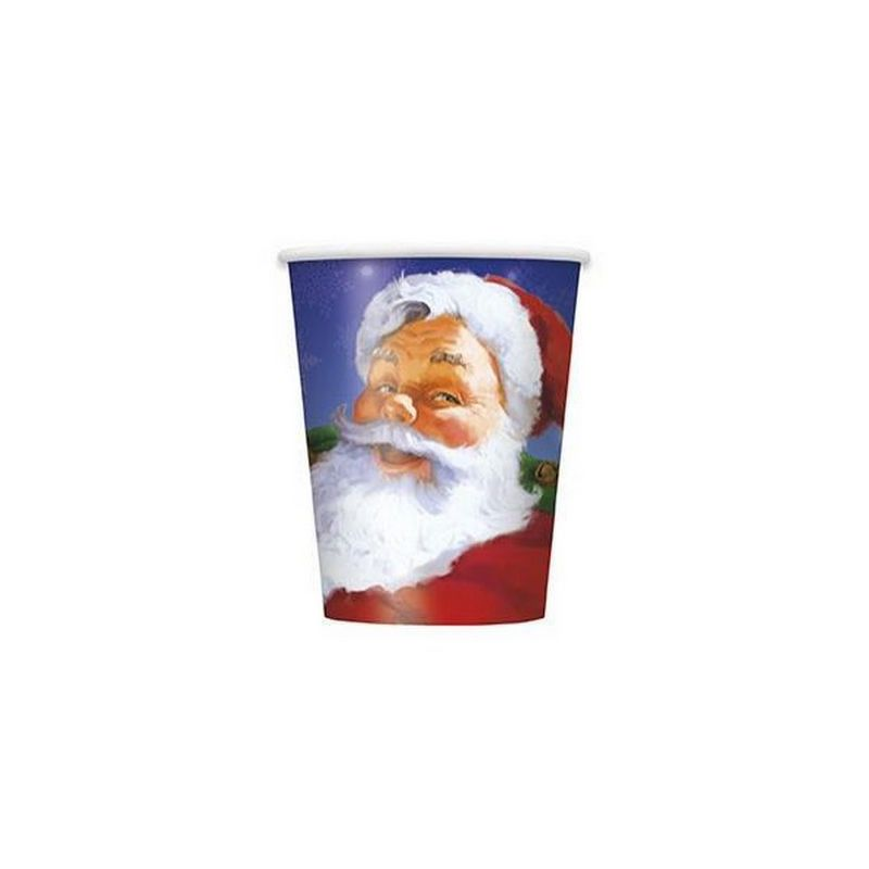 Gobelets jetables x 8 motif père noël Déco festive U47806