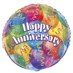 Ballon hélium Happy Anniversary Déco festive U53213
