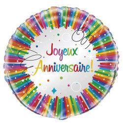 Ballon mylard Joyeux Anniversaire qualité hélium Déco festive U56916