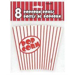 Sachet de 8 boites à popcorn en carton Déco festive U59023