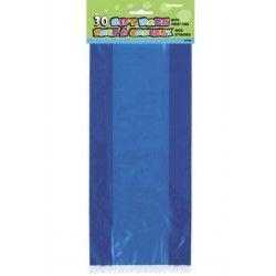 Lot de 30 sacs cadeaux bleus Déco festive U62023