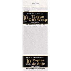 Papier de soie blanc Déco festive U6280