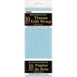 Déco festive, Papier de soie bleu, U6283, 1,50€