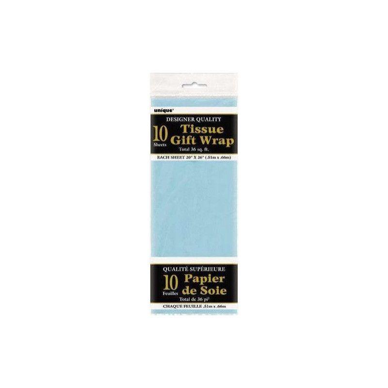 Papier de soie bleu Déco festive U6283