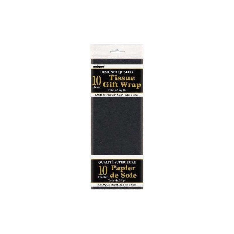 Papier de soie noir Déco festive U6284