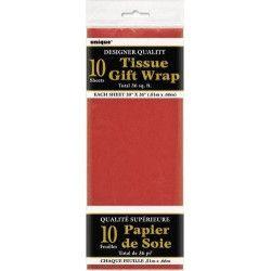 Papier de soie rouge Déco festive U6286