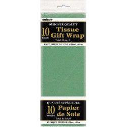Déco festive, Papier de soie vert, U6287, 1,50€