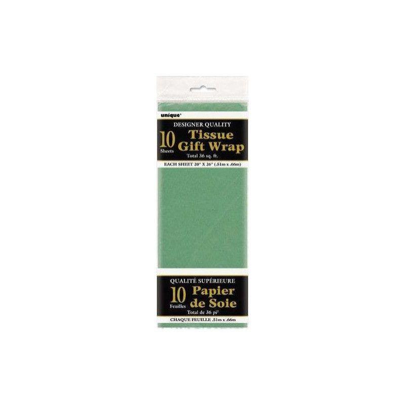 Papier de soie vert Déco festive U6287