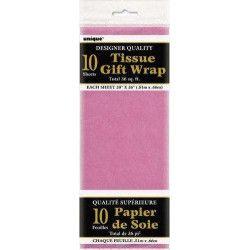 Déco festive, Papier de soie rose foncé, U6290, 1,50€