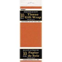 Déco festive, Papier de soie orange, U6292, 1,50€