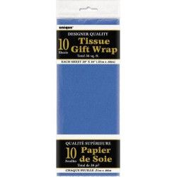 Papier de soie bleu royal Déco festive U6295