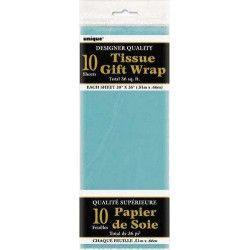 Papier de soie turquoise Déco festive U6296