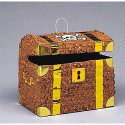 Pinata coffre de pirate à casser Déco festive U6763