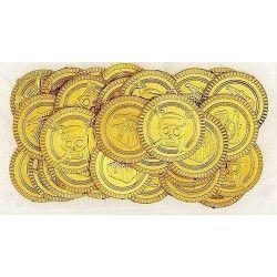 Déco festive, Lot de 30 pièces d'or 3,3 cm, U86259, 2,40€