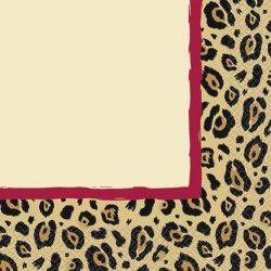 Accessoires de fête, Serviettes jetables thème léopard x 16, U98022, 2,90€