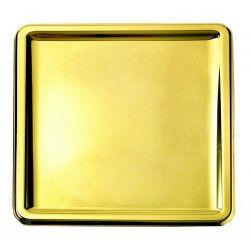 Assiettes carrées jetables métallisées or 18 cm Déco festive V55CA180OR