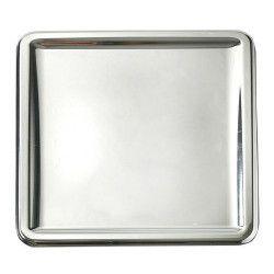 Assiettes carrées jetables métallisées argent 23.5 cm Déco festive V55CA235AR