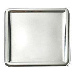 Déco festive, Plat carré x 4 métallisé argent 30 cm, V55CA300AR, 7,00€