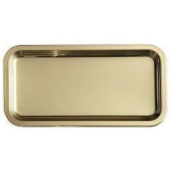 Déco festive, Plat rectangulaire jetable 46x30 cm métallisé or x 5, V55PLR460OR, 16,90€