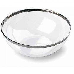 Saladier 3,5 l cristal bordure argent x 4 Déco festive V55SAL3500AR