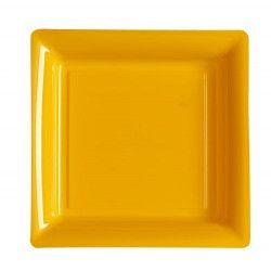 Déco festive, Assiettes carrées x 12 jetables mandarine 18 cm, V57180M, 3,65€