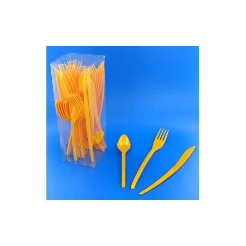 Couverts jetables en plastique mandarine x 30 Déco festive V60MENAG.M