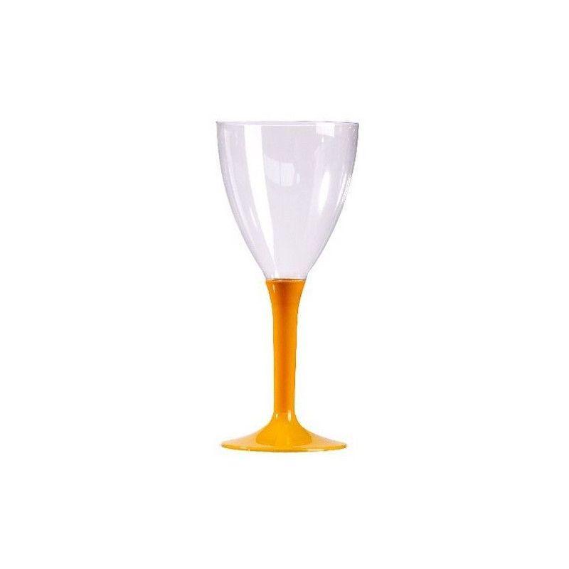 Verres à vin plastique pied mandarine x 10 Déco festive V60VIN.M