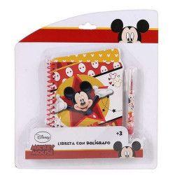 Bloc-note enfant avec stylo à bille Mickey Jouets et articles kermesse WA2052272