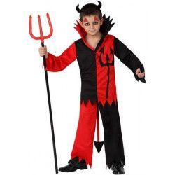 Déguisement diable rouge et noir garçon 7-9 ans Déguisements 14960