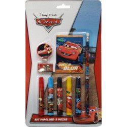 Jouets et kermesse, Set de papeterie 9 pièces Cars, WA2055076, 3,50€