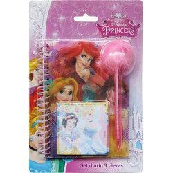 Jouets et kermesse, Set carnet de notes 3 pièces Princess, WA2055280, 6,90€