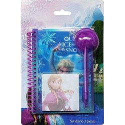 Set carnet de notes 3 pièces Frozen Jouets et articles kermesse WA2056295