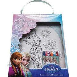 Jouets et kermesse, Puzzle coloriage avec 6 crayons Frozen, WA2056296, 4,90€