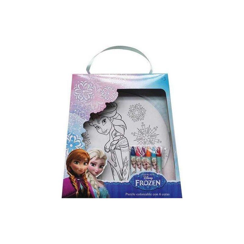 Puzzle 9 pièces à colorier avec 6 crayons Frozen Jouets et articles kermesse WA2056296