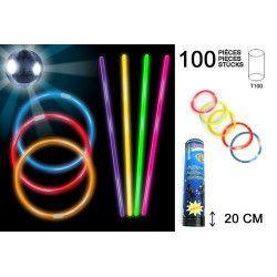 Bracelet lumineux fluo x 100 pièces Jouets et articles kermesse 15063