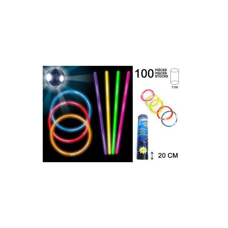 Bracelet lumineux fluo x 100 pièces Jouets et kermesse 15063