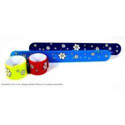 Bracelet auto enroulant fleurs vendu par 30 Jouets et kermesse 6463-LOT