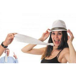 Cravate satin blanc Accessoires de fête 3335