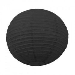 Lanterne japonaise noire 35 cm Déco festive 502111M