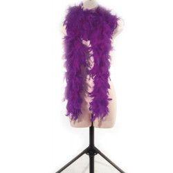Boa plumes violettes 180 cm 45 grs Accessoires de fête 852500116