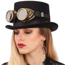 Accessoires de fête, Lunettes d'aviateur ou steampunk, 06929, 5,90€