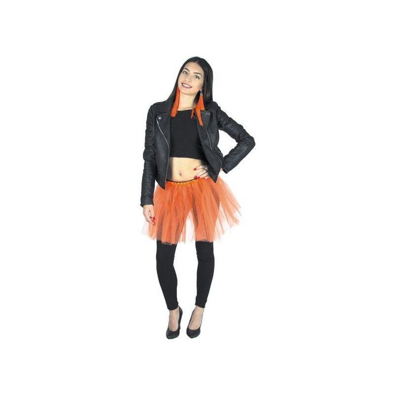 Tutu orange fluo 35 cm Accessoires de fête 333022