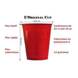 Gobelets rouges original cup 53 cl x 20 Déco festive GR53