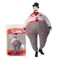 Déguisements, Déguisement clown ensanglanté gonflable taille unique, COS-CLO, 35,90€