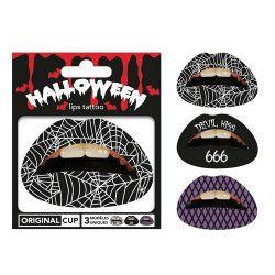 Tattoo lèvres halloween Accessoires de fête TAT-HAL