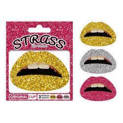 Tattoo lèvres paillettes Accessoires de fête TAT-STR